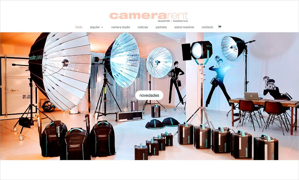 nueva web camera-rent